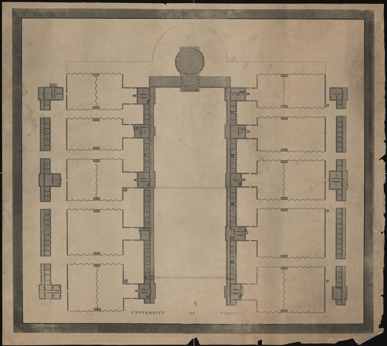 Maverick 1825 Plan of Academical Village